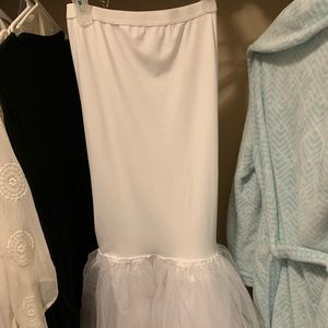 David's Bridal xsmall mermaid dress slip